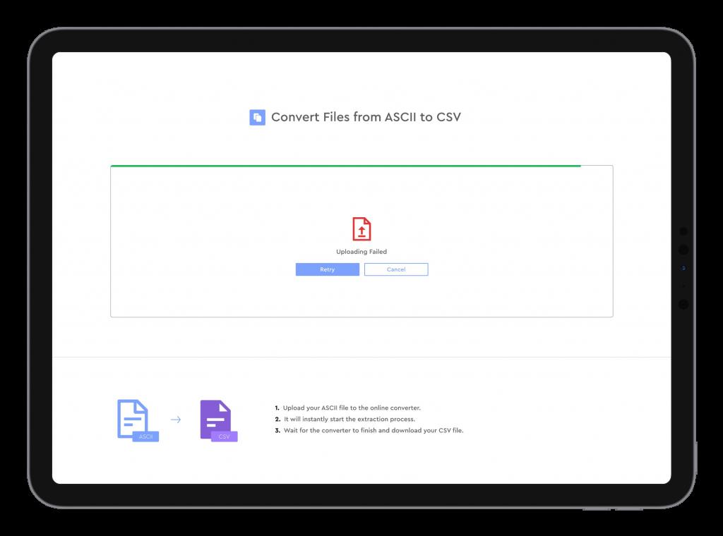 ascii zu csv Datei Konvertierer